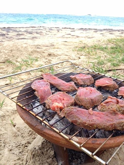 Steak Five Dollar beach St Lucia