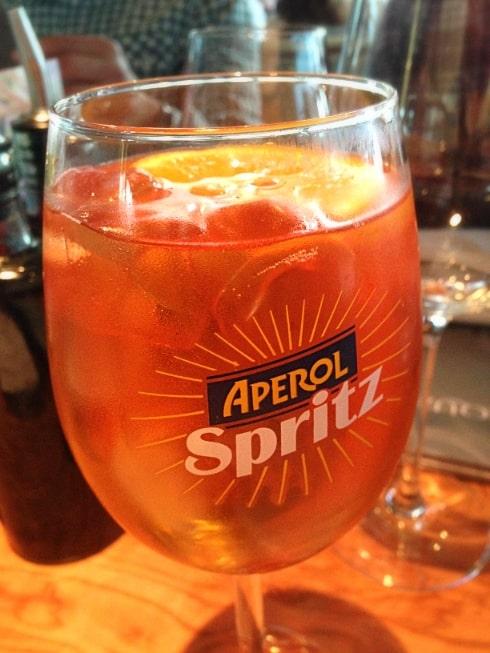 Aqua Italia Milton Keynes Aperol Spritz