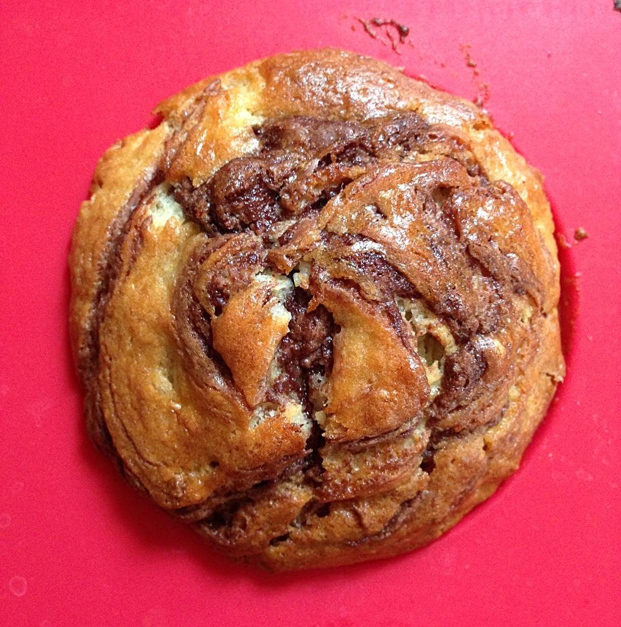 Banana nutella muffin