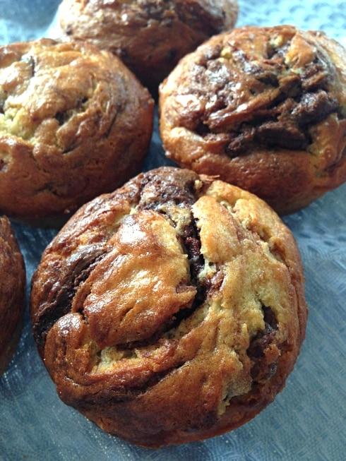 Banana and nutella muffin recipe