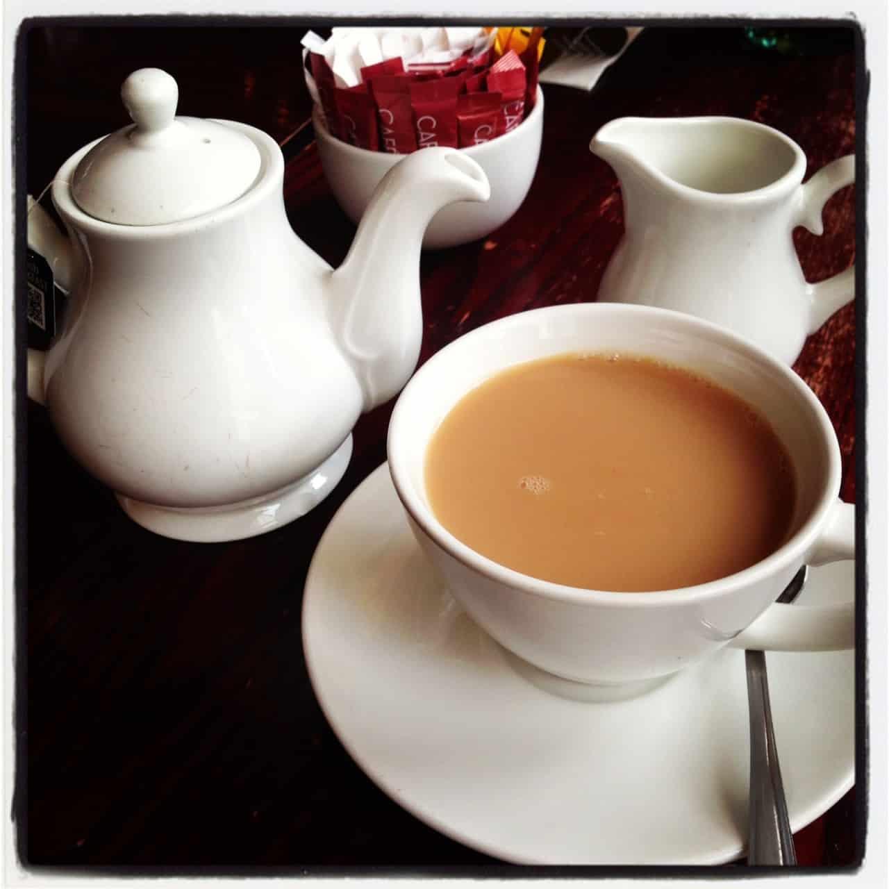 Cafe Rouge the Hub Milton Keynes breakfast tea