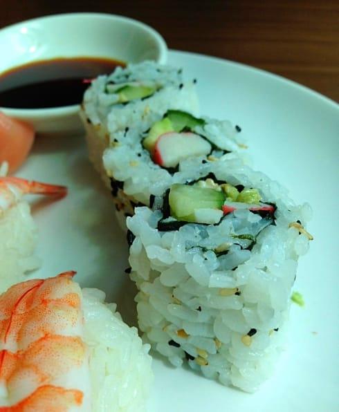 California sushi rolls Mii & U Milton Keynes