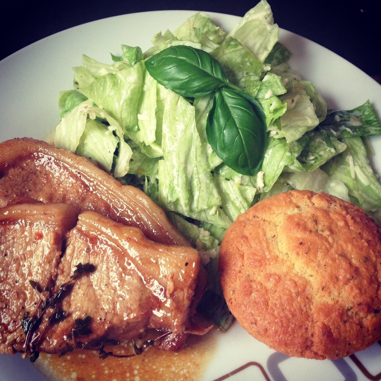 Pork chops keto bread low carb dinner
