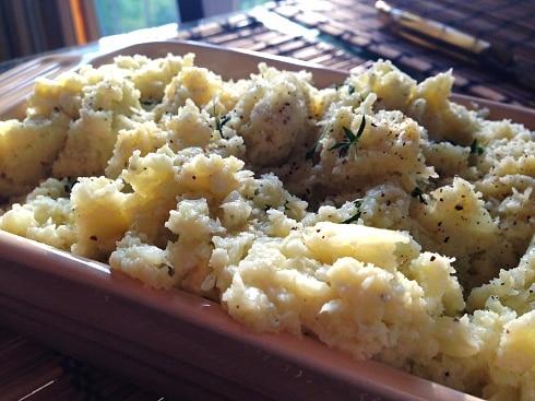Skinny cauliflower mash