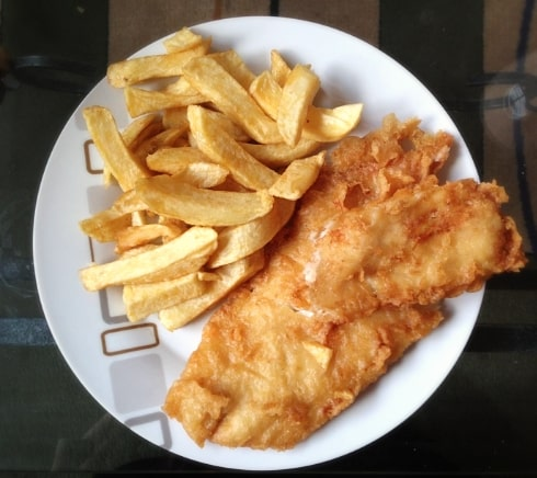 Fish chips cheat day