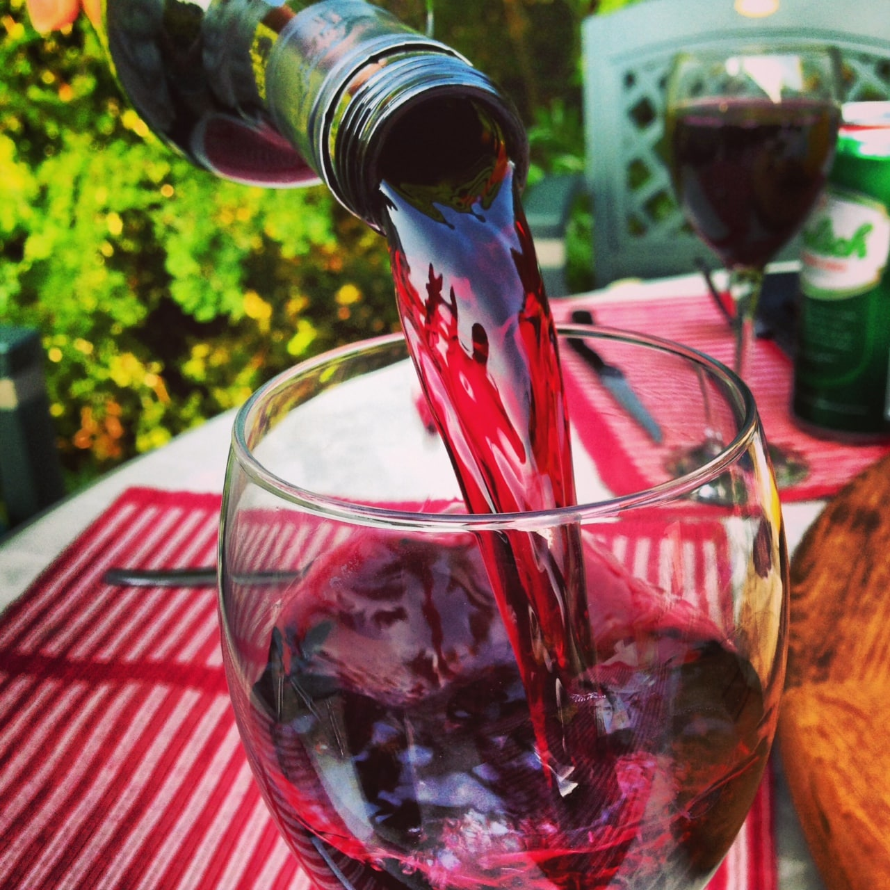Red wine with BBQ