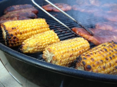 Sweetcorn on BBQ
