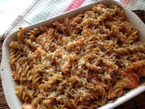 Wholewheat pasta bake recipe salmon asparagus