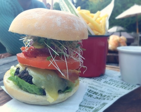 Cheeseburger Swan Inn Newton Newbury