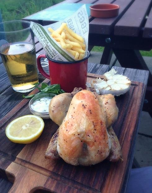Chicken chips Swan Inn Newton Newbury