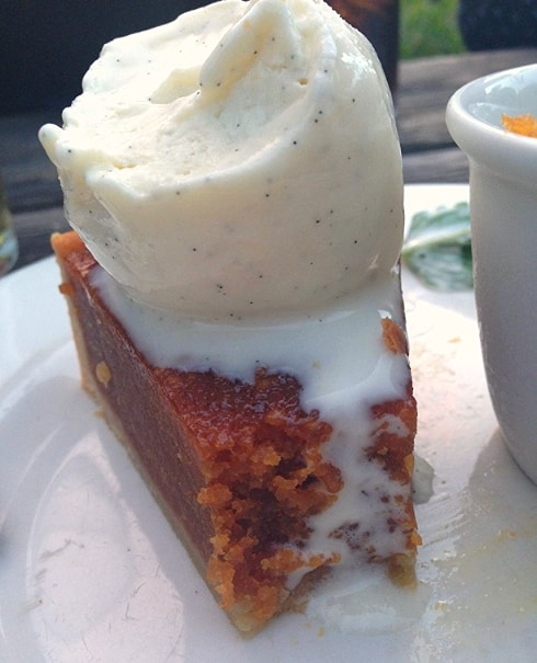 Treacle tart ice cream Swan Inn Newton Newbury