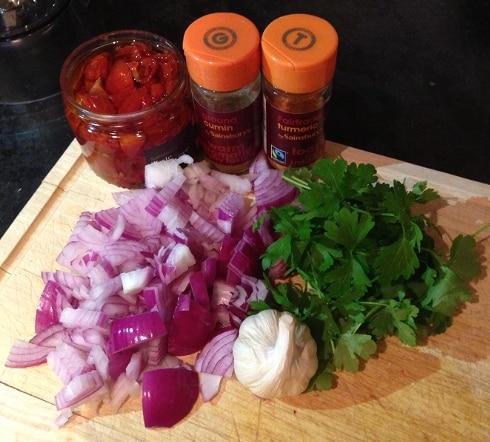 Falafel ingredients recipe
