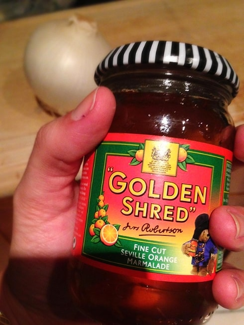 Golden Shred marmalade for onions