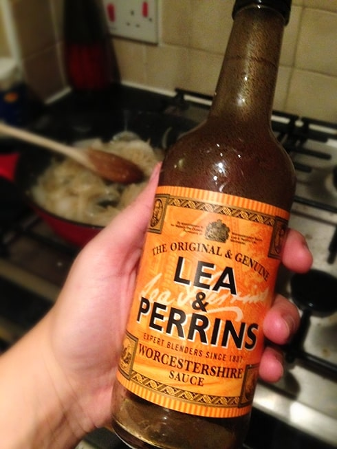 Lea & Perrins for marmalade onions