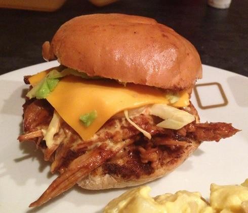 Lone Star Grill BBQ Milton Keynes hush pulled pork burger brioche bun