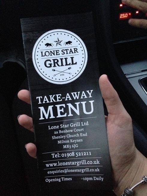 Lone Star Grill BBQ Milton Keynes menu