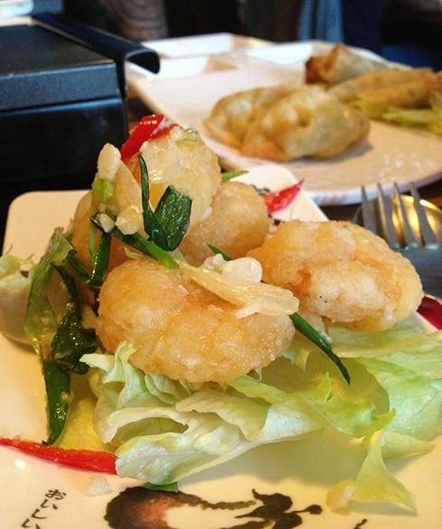 Zen Kafe Folkestone garlic prawns
