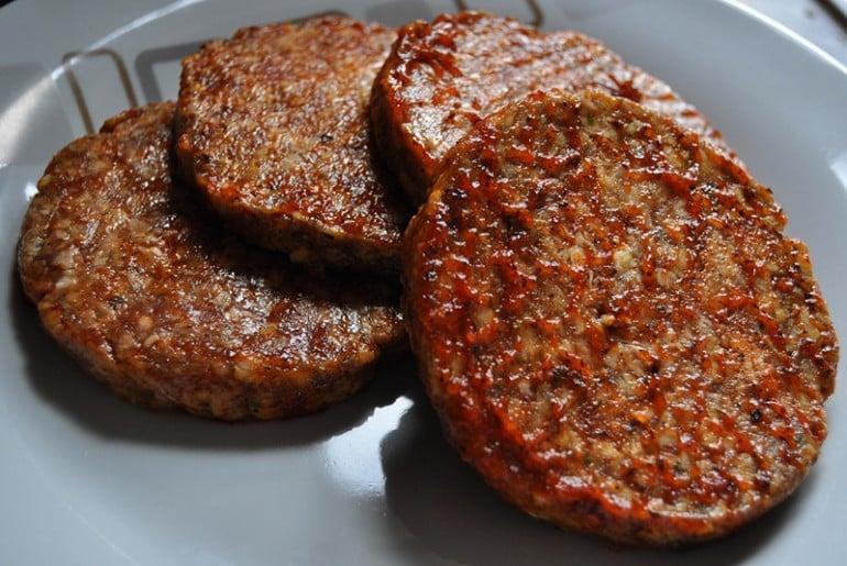 G J Douglas butchers Newport Pagnell lamb burgers
