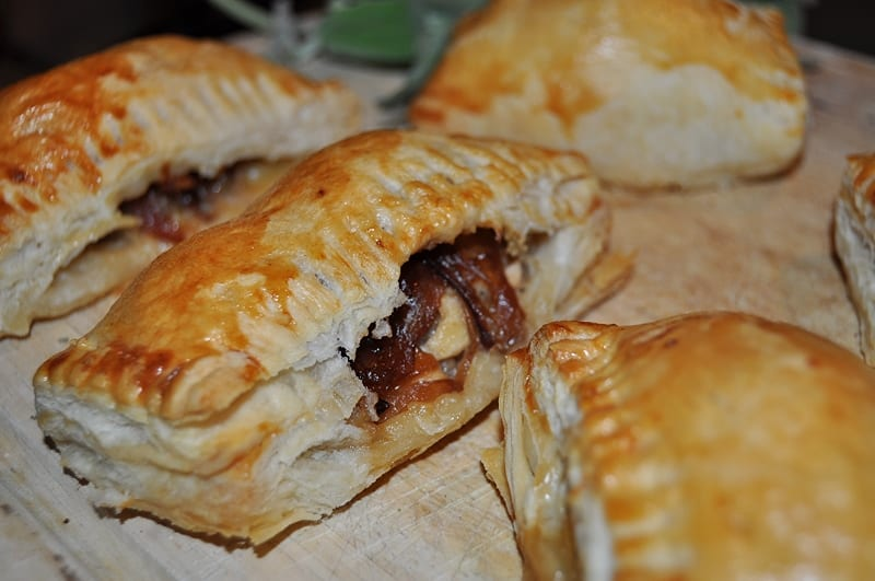 Sausage rolls with red onion feta girl eats world for Sausage roll recipe uk