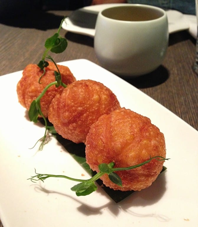 Yauatcha dim sum Soho London duck pumpkin puff