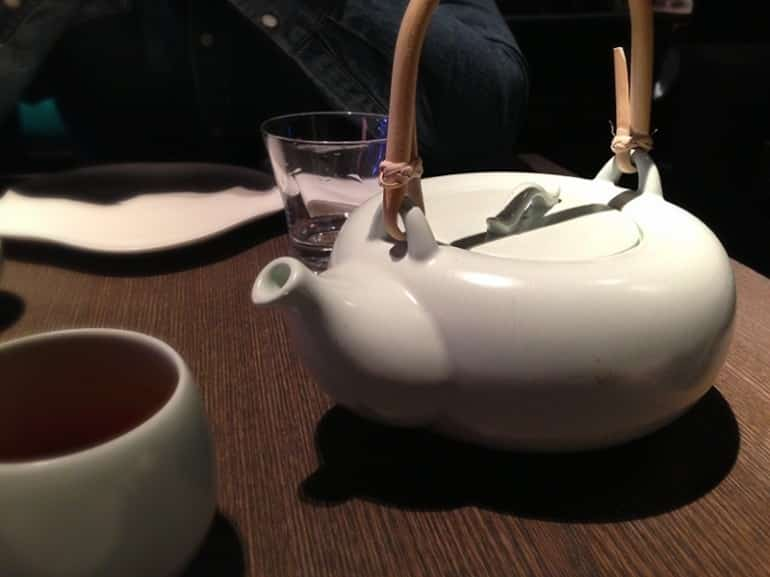 Yauatcha dim sum Soho London orchid tea