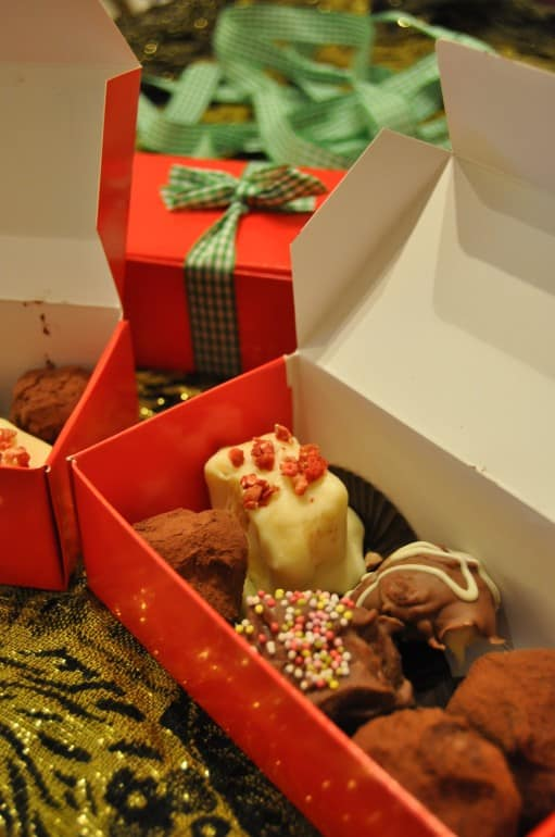 Box of home made truffles