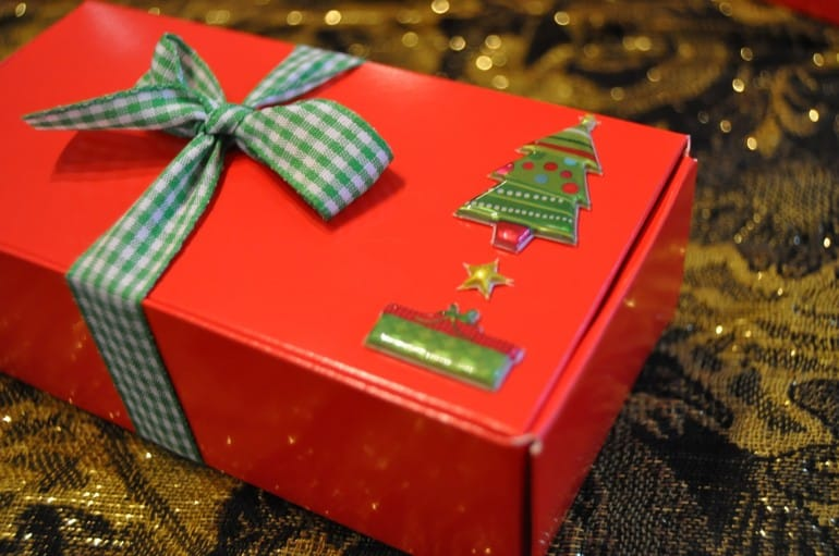 Christmas gift boxes for truffle recipe