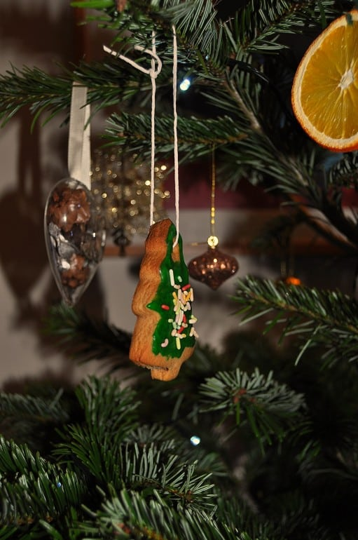Christmas tree biscuits gingerbread festive decoration
