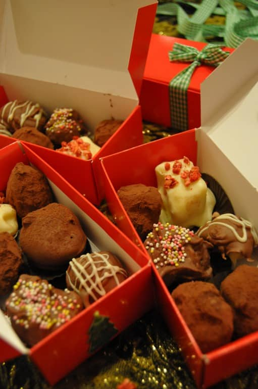 Homemade christmas truffles home made gift idea