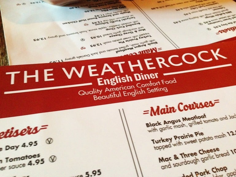 Weathercock Woburn Sands menu