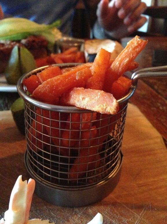 Weathercock Woburn Sands sweet potato fries