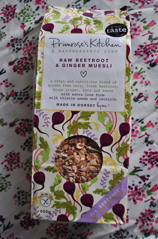 Primroses Kitchen vegetable muesli review beetroot ginger