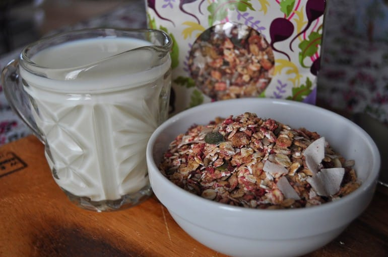 Primroses Kitchen vegetable muesli review beetroot ginger mix