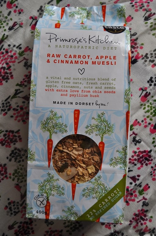 Primroses Kitchen vegetable muesli review carrot apple cinnamon