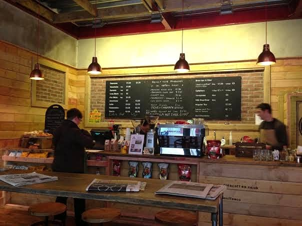 Bogota Coffee The Hub Milton Keynes Review artisan coffee house interior