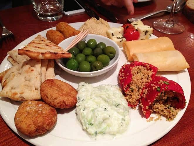 Marlow Bar & Grill restaurant review Greek meze sharing starter