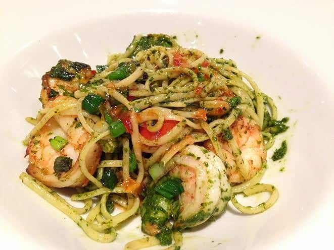 Marlow Bar & Grill restaurant review king prawn linguine