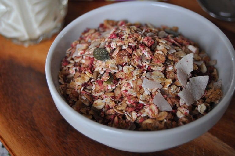 Primroses Kitchen vegetable review beetroot ginger muesli