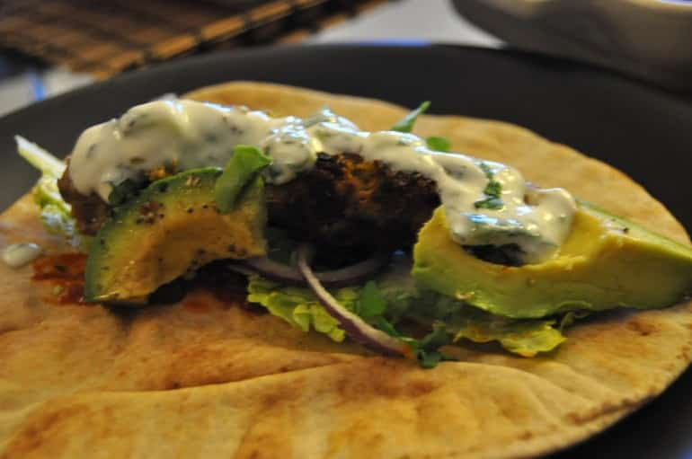 Lamb kofta recipe ingredients flatbread wrap