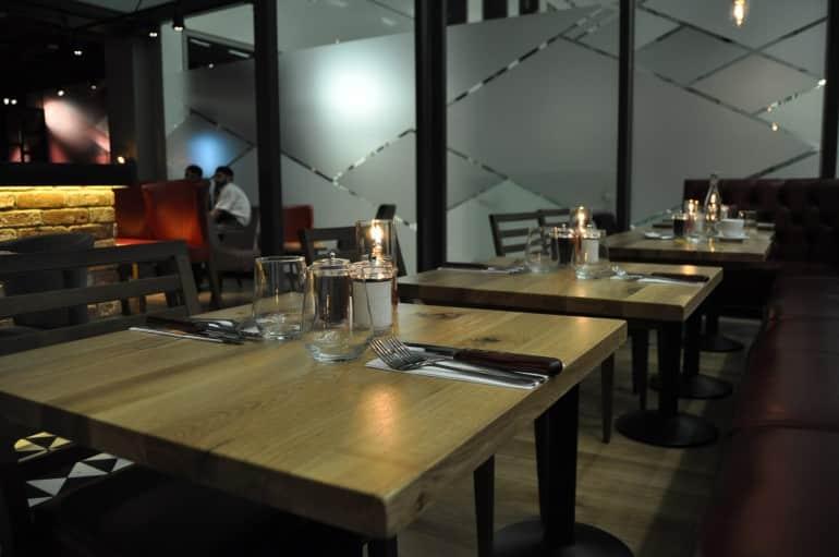 Middletons Steakhouse & Grill tables Milton Keynes