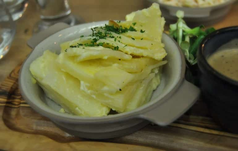 Middletons Steakhouse Milton Keynes dauphinoise potato