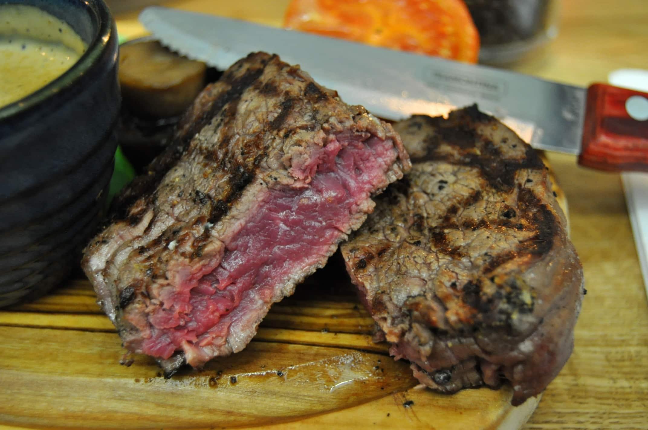 Middletons Steakhouse Milton Keynes fillet steak rare