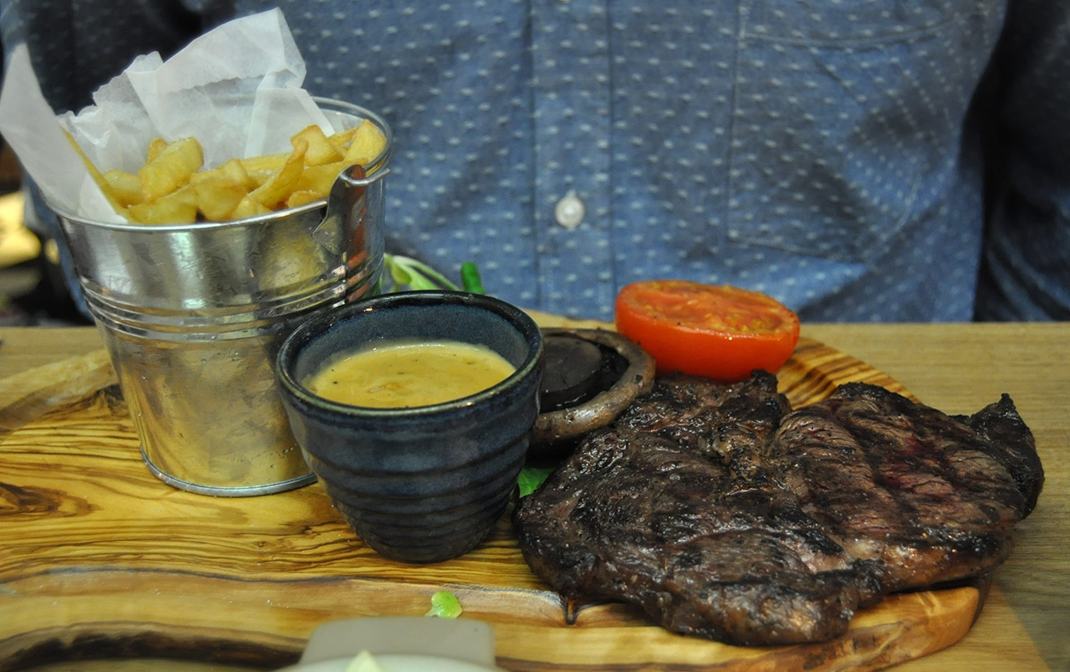 Middletons Steakhouse Milton Keynes ribeye steak chips