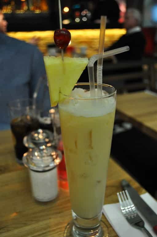 Middletons steakhouse Milton Keynes pina colada