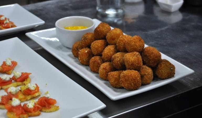 Underground Cookery School London arancini nibbles