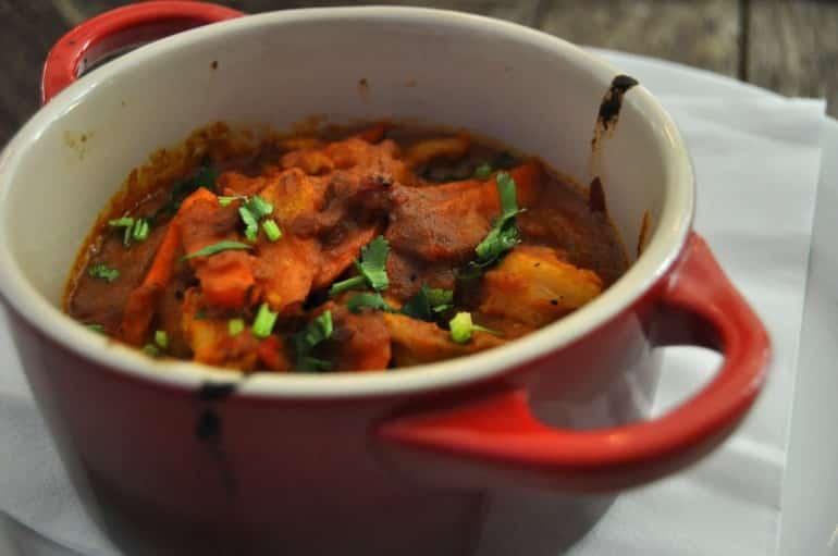 Underground Cookery School London chicken curry