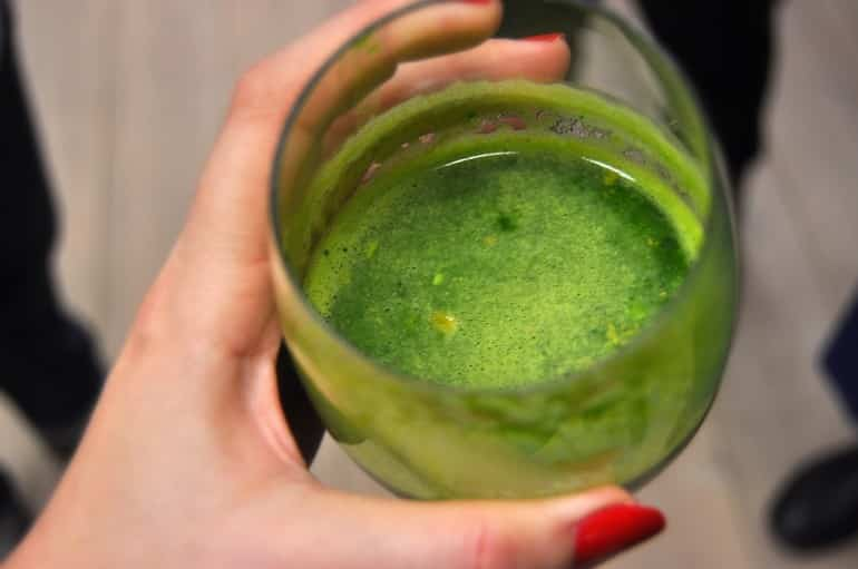 Underground Cookery School London green ginger juice