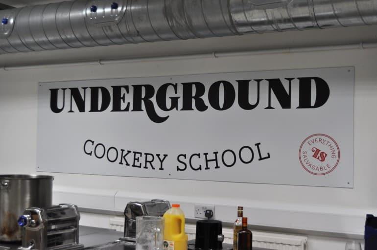 Underground Cookery School London kitchen