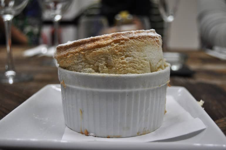 Underground Cookery School London pear souffle rise