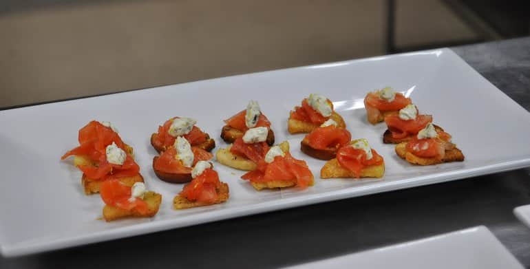 Underground Cookery School London smoked salmon nibbles